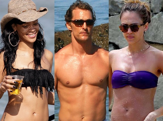 Rihanna, Matthew McConaughey, Jessica Alba