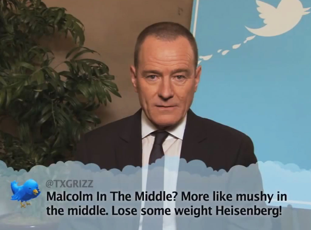Bryan Cranston From Celebrity Mean Tweets From Jimmy