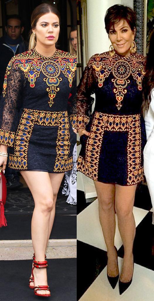 Khloe Kardashian, Kris Jenner, Valentino, Copycat Style