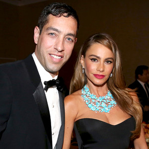 Sofia Vergara, Nick Loeb, Golden Globes 2014