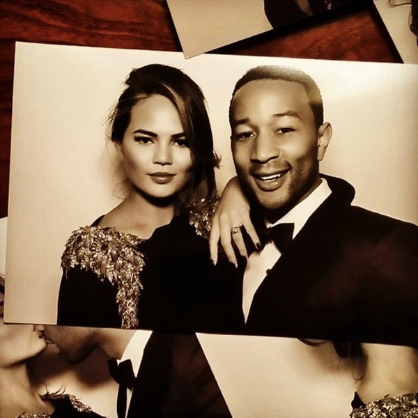 chrissy tiegen amp john legend from kim amp kanyes wedding