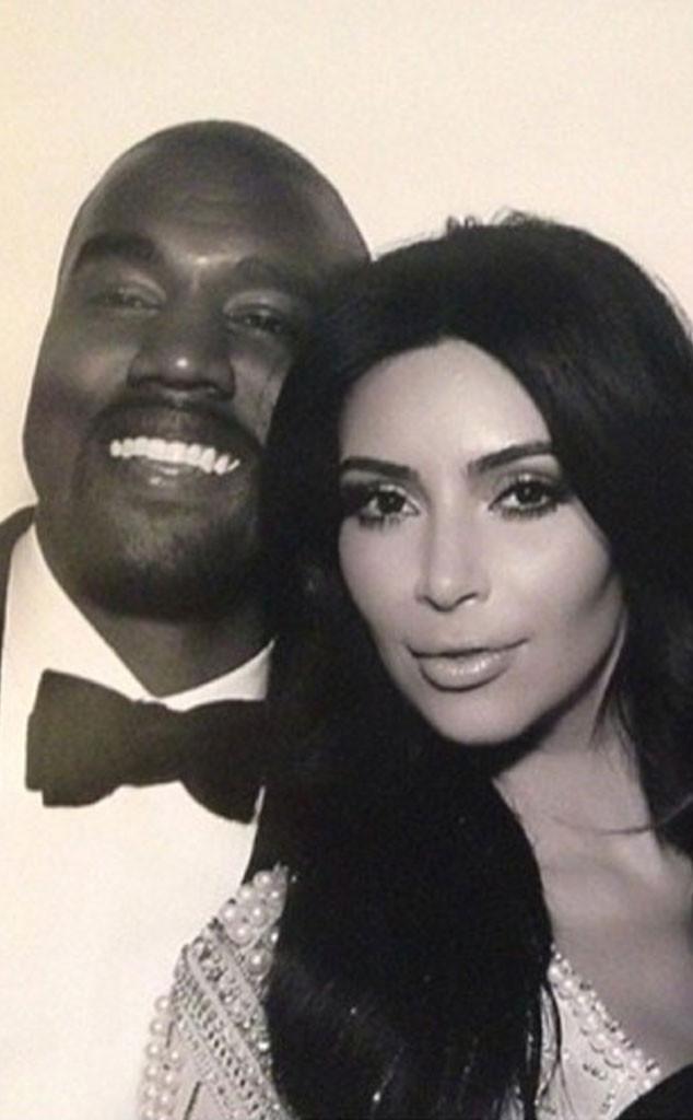 Kimye Wedding Instagram Kim Kardashian Kanye West