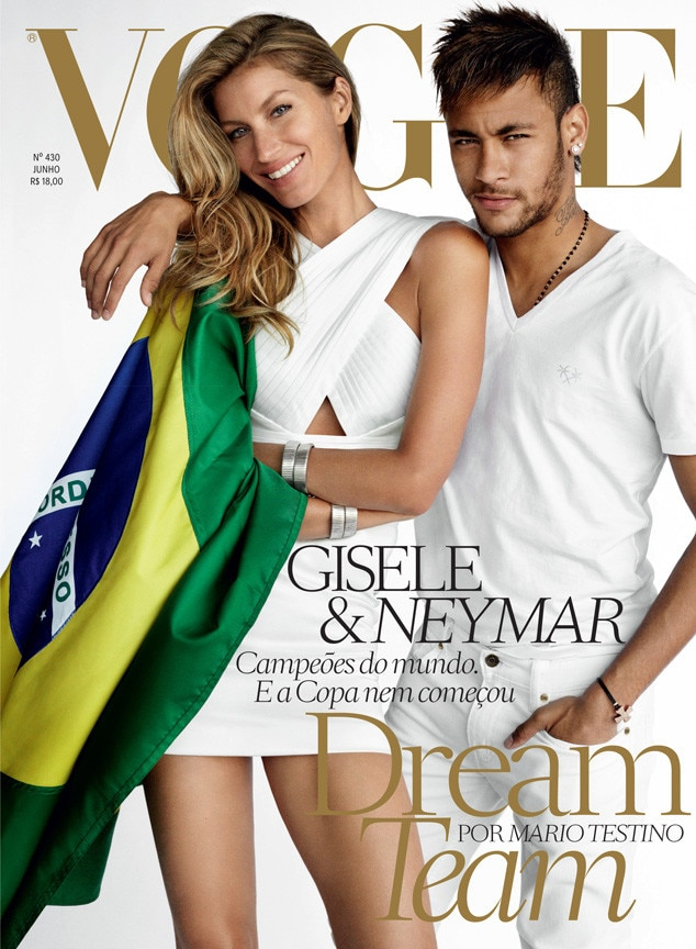 Gisele Bundchen, Neymar, Vogue Brazil
