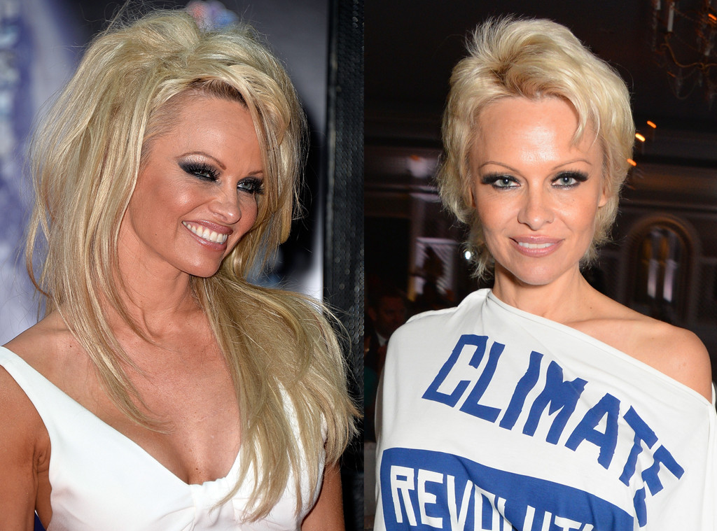 pamela anderson goes back to long hairstyle thanks to extensions e news. Black Bedroom Furniture Sets. Home Design Ideas