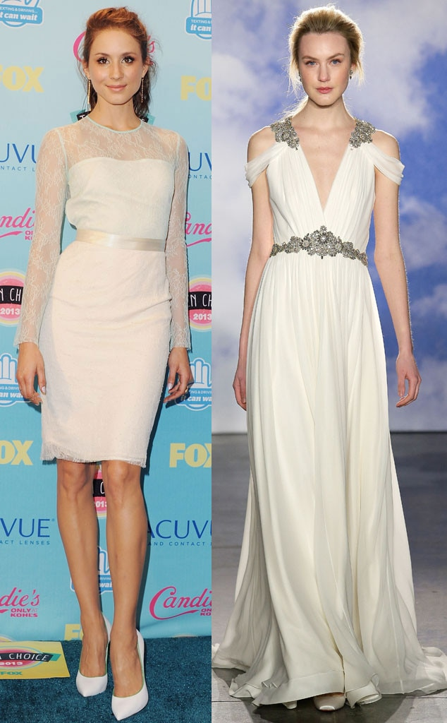 Celeb Wedding Gown Predictions, Troian Bellisario