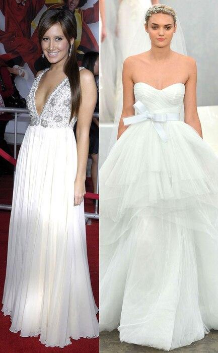 Celeb Wedding Gown Predictions, Ashley Tisdale
