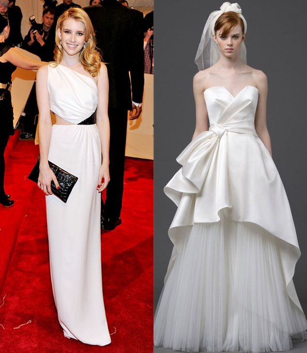 Celeb Wedding Gown Predictions, Emma Roberts