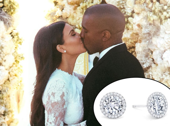 Kim Kardashian, Kanye West, Earrings