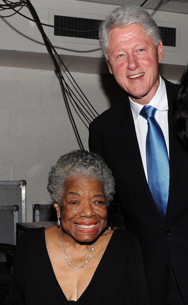 Dr. Maya Angelou, Former U.S. President Bill Clinton