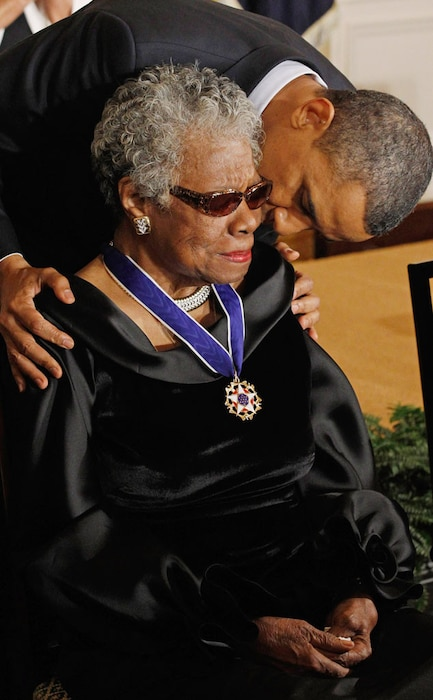 Dr. Maya Angelou, U.S. President Barack Obama
