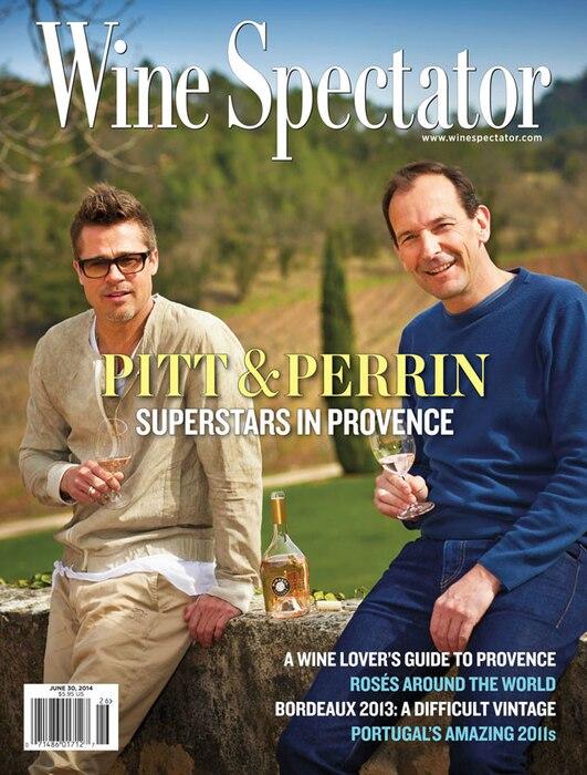 Brad Pitt Wine Spectator magazine