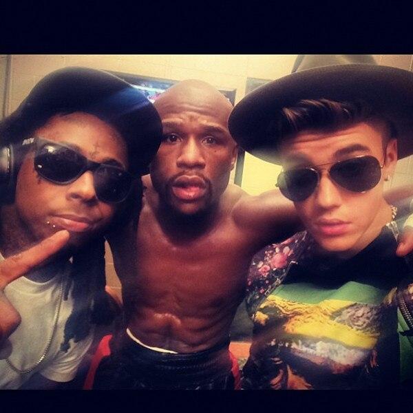 Justin Bieber, Floyd Mayweather