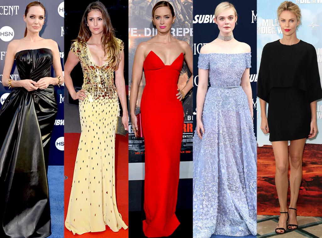 Nina Dobrev, Emily Blunt, Charlize Theron, Elle Fanning, Angelina Jolie