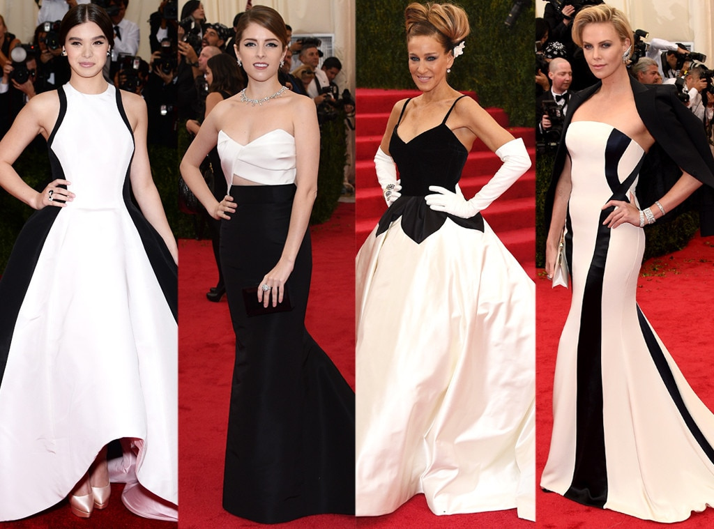 2014 met gala black white gowns rule the red carpet e news - Black and white red carpet dresses ...