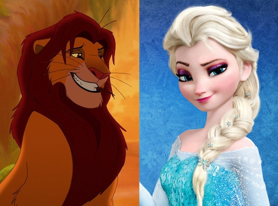 Simba, The Lion King, Elsa, Frozen