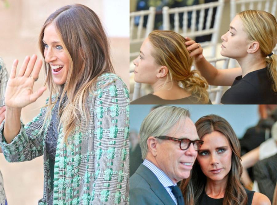 Sarah Jessica Parker, Mary Kate Olsen, Ashley Olsen, Tommy Hilfiger, Victoria Beckham