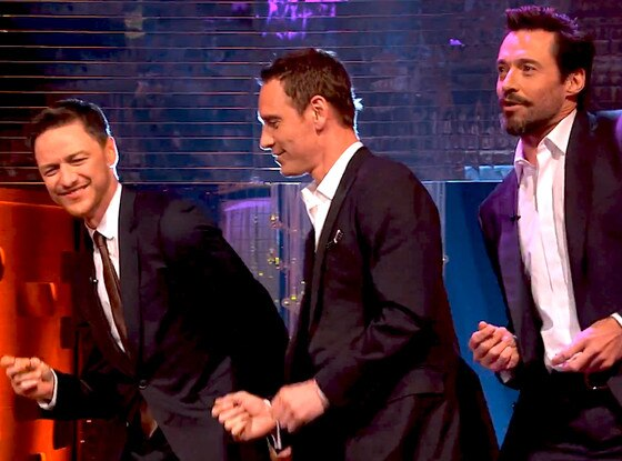 Hugh Jackman, Michael Fassbender, James McAvoy