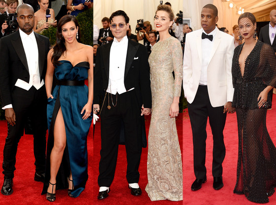 Jay-Z, Beyonce, Johnny Depp, Amber Heard, Kim Kardashian, Kanye West, MET Gala