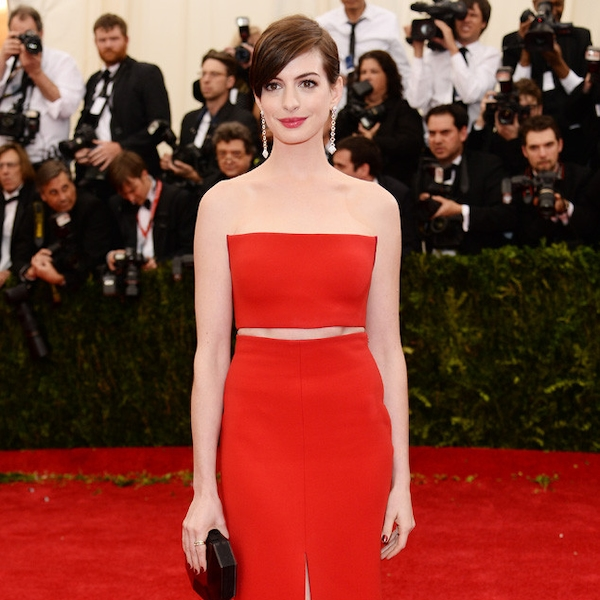 Anne Hathaway From 2014 Met Gala Arrivals