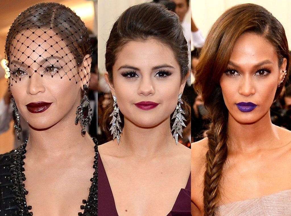 MET Gala, Dark Lips, Joan Smalls, Beyonce, Selena Gomez