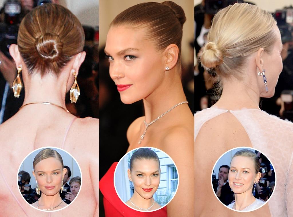 MET Gala Sleek Ballerina Buns, Arizona Muse, Naomi Watts, Kate Bosworth