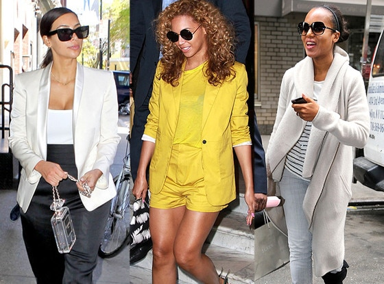 Kim Kardashian, Beyonce, Kerry Washington