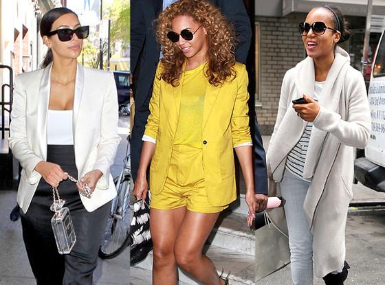 Kim Kardashian, Beyonce, Kerry Washington