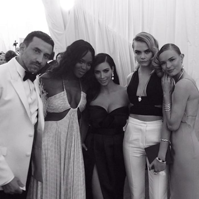 RIccardo Tisci, Naomi Campbell, Kim Kardashian, Cara Delevingne, Kate Bosworth