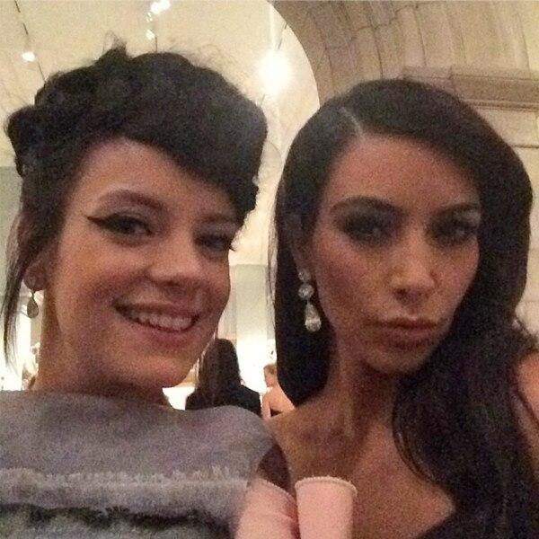 Lily Allen, Kim Kardashian