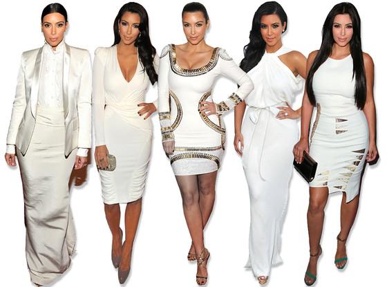 Kim Kardashian, White Dresses