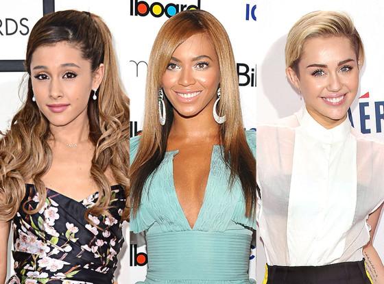 Ariana Grande, Beyonce, Miley Cyrus