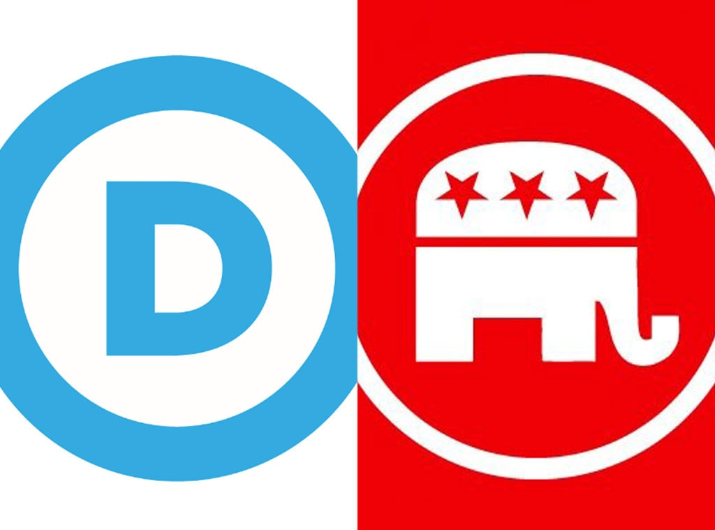 Democratic Party, Republican Party, Twitter