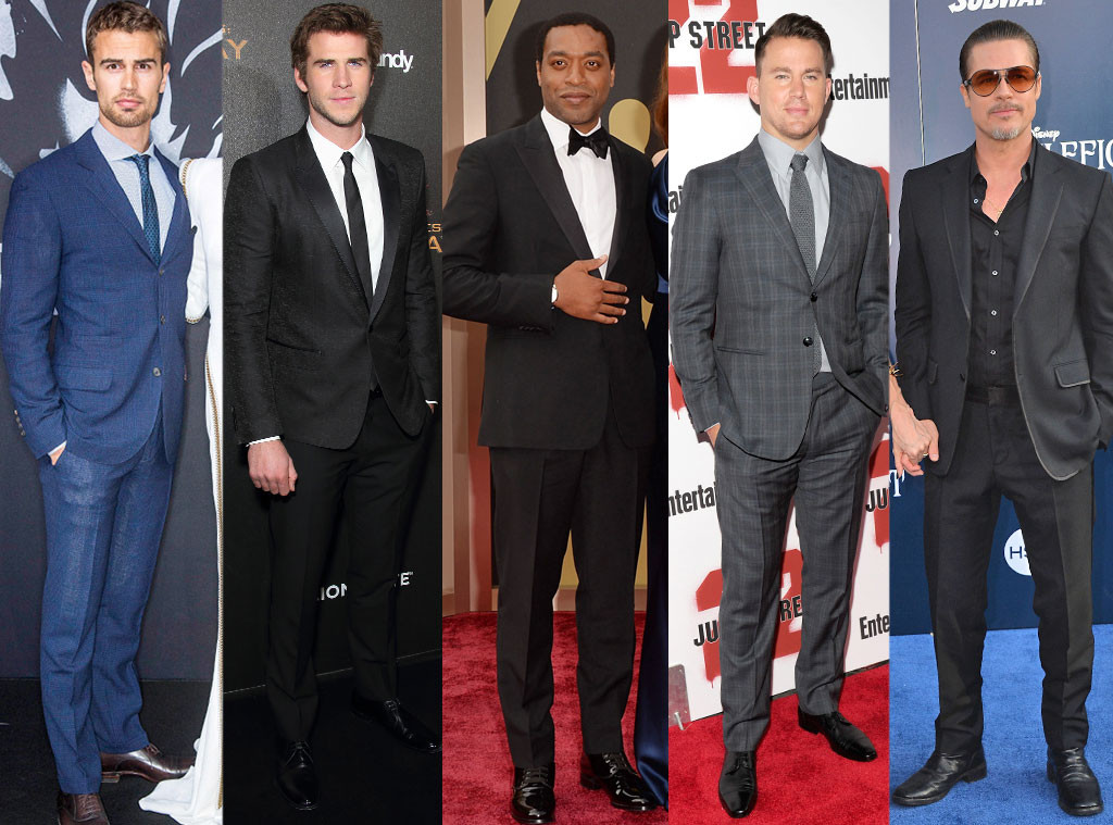 Fabulist Most Stylish Men of Spring, Theo James, Liam Hemsworth, Chiwetel Ejiofor, Channing Tatum, Brad Pitt
