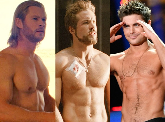 Zac Efron, Chris Hemsworth, Ryan Reynolds