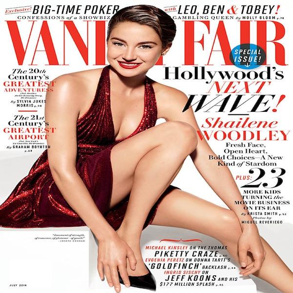 VANITY FAIR MAGAZINE JULY 2014 #646 (FN/VF) SHAILENE WOODLEY