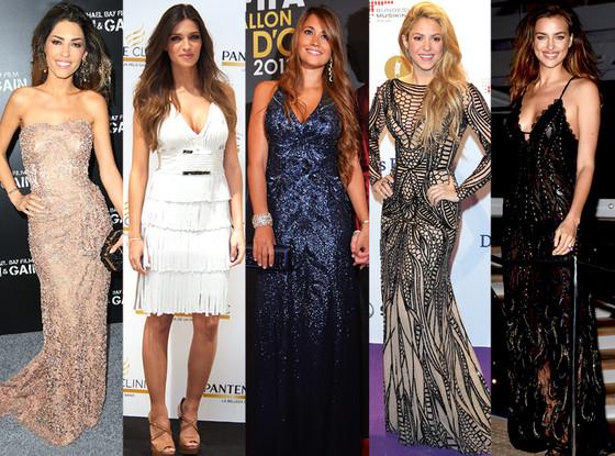 Irina Shayk, Shakira, Sara Carbonero, Yolanthe Cabau, Antonella Roccuzzo