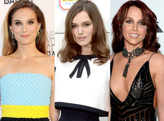 Natalie Portman, Keira Knightley, Britney Spears