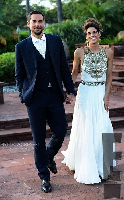 Zachary Levi, Missy Peregrym, Wedding, Exclusive
