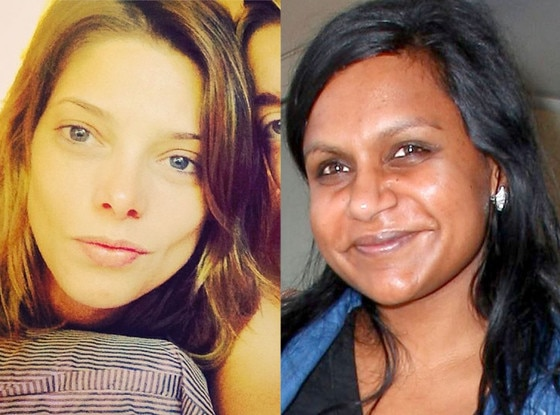 Ashley Greene, Mindy Kaling, No Makeup