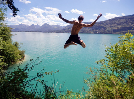 The Fabulist, Bucket List, Jumping in Lake
