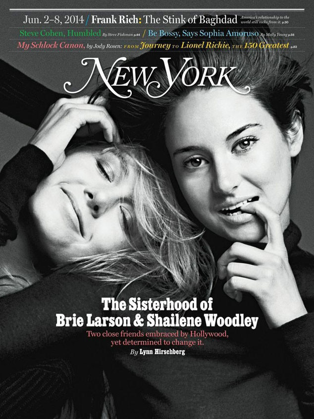 Shailene Woodley, Brie Larson, New York Magazine