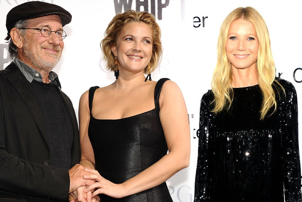 Steven Spielberg, Drew Barrymore, Gwyneth Paltrow, Godparents