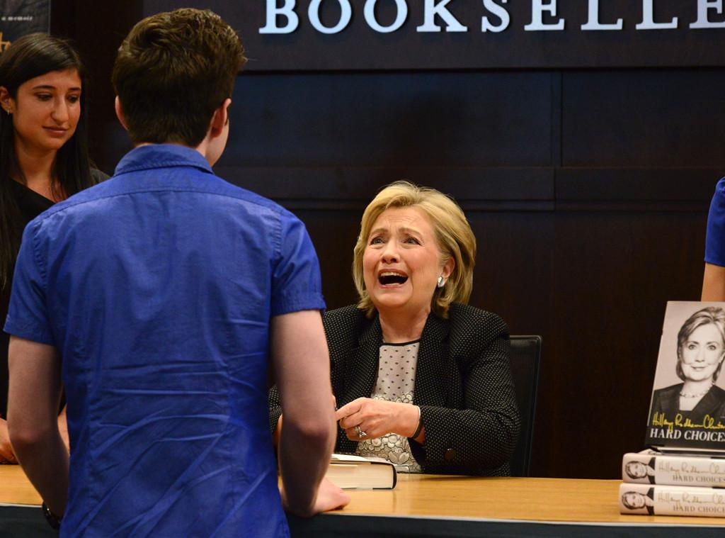 Chris Colfer, Hillary Rodham Clinton