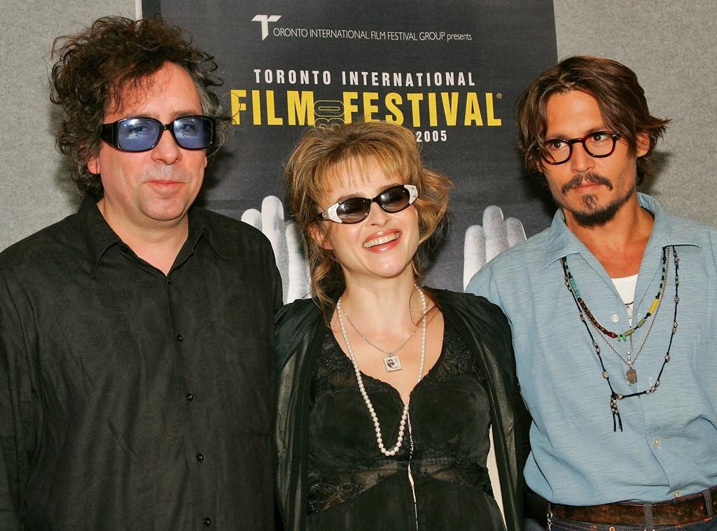 Tim Burton, Helena Bonham Carter, Johnny Depp, Godparents