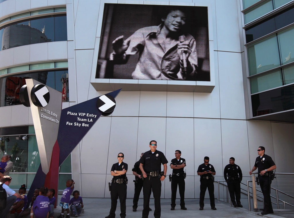 Michael Jackson, Memorial, Police, Staples Center
