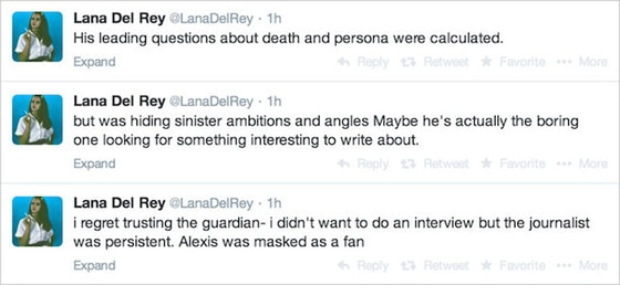 Lana Del Rey, Guardian Tweets