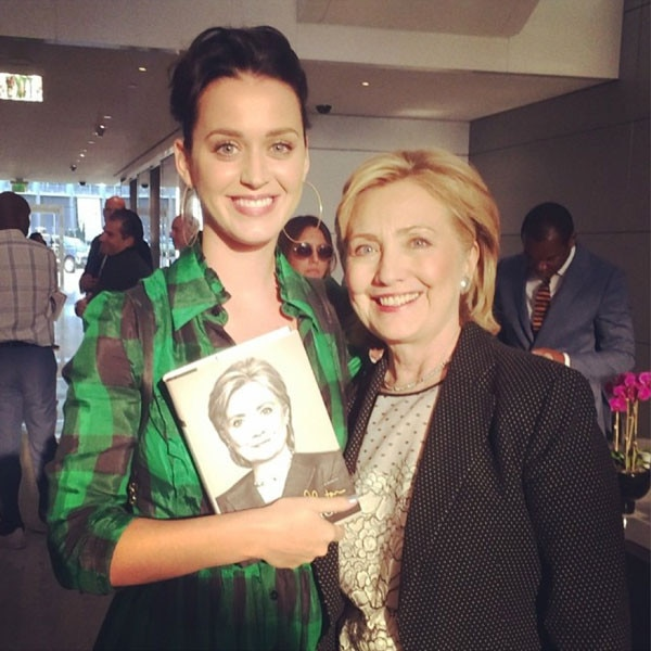 Hillary Clinton, Katy Perry, Instagram