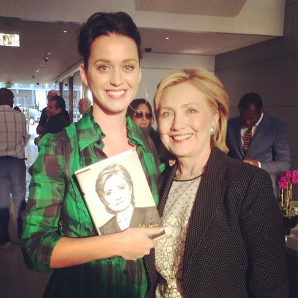 Hillary Clinton, Katy Perry, Instagram