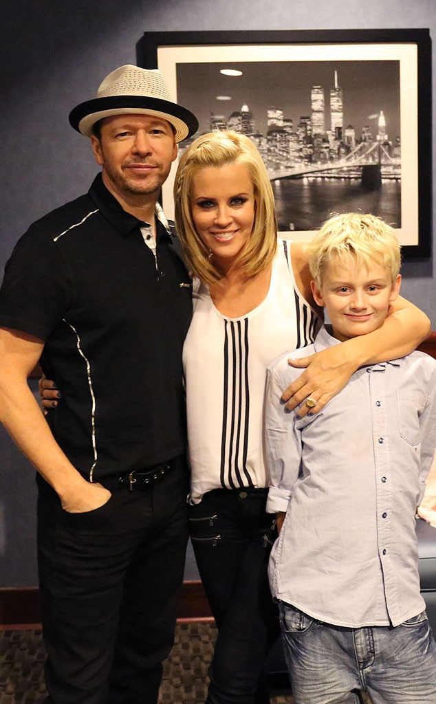 Happily married husband and wife: Donnie Wahlberg and Jenny McCarthy with their son