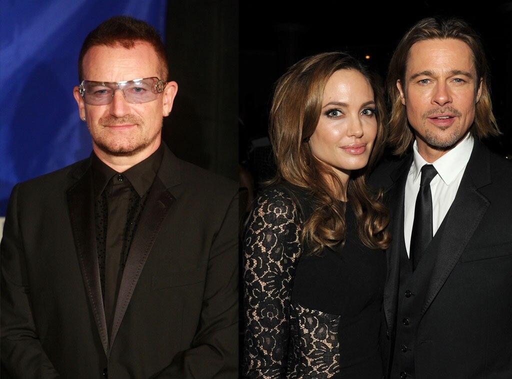 Bono, Angelina Jolie, Brad Pitt, Godparents
